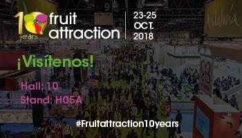 Fruit Attraction 2018 (23-25 de octubre). Ven a visitarnos y conoce nuestras últimas novedades.
